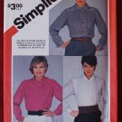 Simplicity 6159 vintage 1983 pattern for asymmetric blouses, left side front button closing