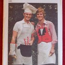 Simplicity 6440 vintage 1974 pattern for men's novelty aprons, chef's hat, BBQ mitt