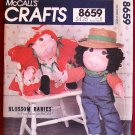 McCall's 8659 vintage 1983 Blossom Babies girl doll pattern by Faye Wine for 23.5 inch doll