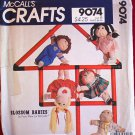 McCall's 9074 vintage 1984 Blossom Babies pattern by Faye Wine for 18 inch dolls