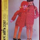 McCall's 3397 vintage 1972 pattern for large 41 inch doll and clothes