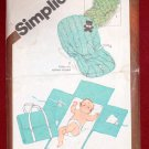 Simplicity 9926 vintage 1981 pattern for babies' travel diaper mat and seat cover