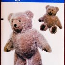 "Vogue 8658 / 569 craft pattern by Linda Carr for 23"" teddy bear"