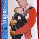 Vogue 8287 or 527 craft pattern for infant baby carrier, pre-Baby Bjorn