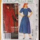 McCall's 2682 vintage 1986 Laura Ashley dress pattern cut to fit, sizes 6-10