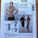 Burda 7444 pattern for cowl or draped neck dress or tunic, sizes 6-18