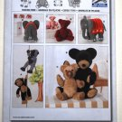 Burda 7904 pattern for stuffed animals including an elephant, monkey, teddy bears