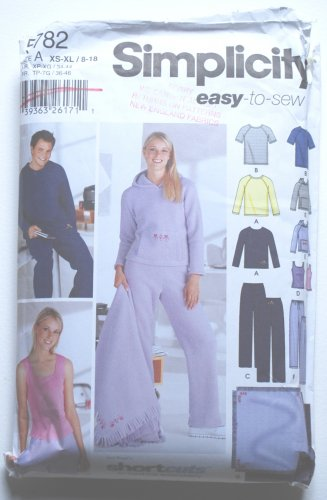 "Simplicity 5782 sleepwear pattern, ""Ann Regal's short cuts to machine embroidery"""