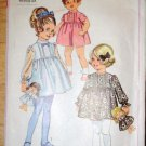Vintage Simplicity children's 7967 pattern for girls' dresses, doll and doll dresses, dated 1968
