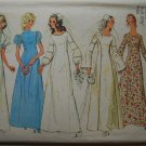 Simplicity 9935 vintage 1972 pattern for wedding or bridal gowns,  medieval style, bust 32.5 inches