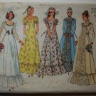 Simplicity 6888 vintage 1975 pattern for wedding or bridal gowns, Edwardian puff sleeves bust 34.