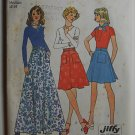 Simplicity 6789 vintage 1974 pattern for wrap skits with unique waist and  scarf