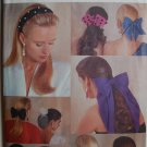 Butterick 5135 vintage 1990 pattern hair bows, snoods, hair tiebacks, roses, flowers, headbands