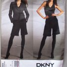 Donna Karan Vogue 2985 or v2985 DKNY wrap jacket, shorts pattern size 14-20