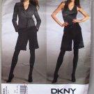 Donna Karan Vogue 2985 or v2985 DKNY wrap jacket, shorts pattern size 14-20