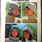 Butterick 3878 vintage Knit Hats to Sew pattern. Oversized berets, flapper hats, fisherman hat
