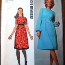 Simplicity 9660 vintage 1971 dress pattern, lantern sleeves, Muir-esque or Patou-esque, bust 31.5""