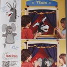 Simplicity 1789 craft pattern for elephant and donkey hand puppets and stage