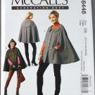 McCall's m6446 or 6446 pattern elf cape by Rebecca Turbow sizes 12-20