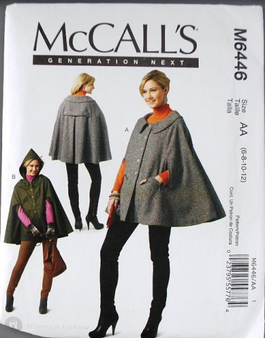 McCall's m6446 or 6446 pattern elf cape by Rebecca Turbow sizes 6-12