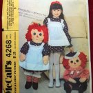 McCall's 4268 Raggedy Ann and Andy 36 inch doll pattern plus apron