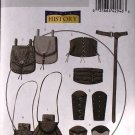 Butterick b5371 or 5371 pattern wrist bracers, corset, belt and pouches, Fantasy Medieval