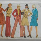Simplicity 7184 vintage 1975 pattern for wide lapel outfits, sizes 5&7 or busts 30-31inches