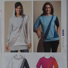 Kwik Sew 3669 pattern for 1980s style color banded kint pullover tops,sizes xs-xl