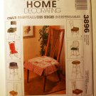 McCall's 3896 Home Decorating pattern for chairs covers and pillows or cushions.