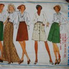 Vogue Basic Design 2931 vintage skirts pattern for 26.5 inch waist