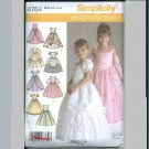 Simplicity 4764 princess gowns pattern American Sewing Guild girls' size 5-8