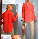 Chado Ralph Rucci Vogue pattern 1054 v1054 for shirt and jean pants sizes 8-14