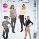 McCall's M6404 6404 pattern for leggings with contrast details, lrg-xlg