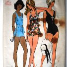 Simplicity 5027 vintage 1972 Bathing Suits with Transfer Pattern, Bust 34 sz 12