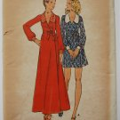 Vintage early 1970s Butterick pattern 6551 big lapels maxi dress bust 30.5