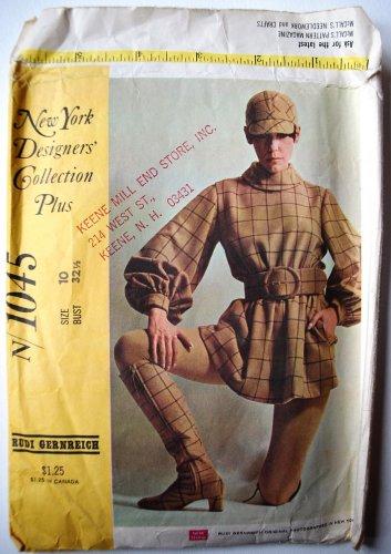 McCall's vintage N1045 McCall's N.Y. Designers' Rudi Gernreich Mod outfit