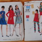 1970s Vogue 7276 and McCall's 2096 maternity patterns skirt, pants, top, dress, tunic,