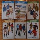 6 Simplicity vintage mens' 1970s patterns Marlborough Man American Hustle