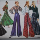 Simplicity 5310 vintage 1972 pattern for palazzo pants and puffy blouses, circle skirt