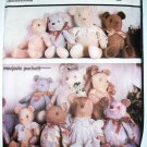 Simplicity 7826 vintage 1986 pattern stuffed bears by Majorie Puckett