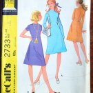 McCall's 2733 vintage 1971 pattern for dresses petite size 10, 32.5 inch bust