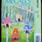 McCall's craft pattern m6767 or 6767 fairy houses quilted pattern