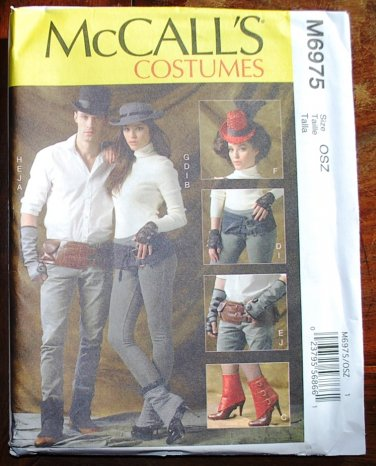 McCall's m6975 or 6975 pattern for saloon or Western style accessories belt, hat