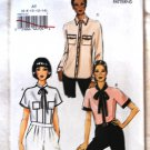 Vogue v8855 or 8855 pattern for blouses with piping or high contrast detail sizes 6-14