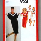Simplicity 9351 vintage 1979 pattern color blocked v-neck dress size 12