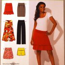Simplicity 2608 pattern for skirts and pants, knitwear sizes 12-20