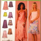 Simplicity 4138 pattern for skirts with ruffles or flounces, sizes 8-16