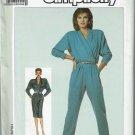 Vintage 1986 Simplicity pattern 7812 wrap jumpsuit pr wrap dress Dolman sleeves size 10 bust 32.5