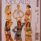 McCall's 5400 M5400 pattern for halter bikinis, swimsuits, swimwear and coverup size 12-18