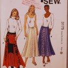 Kwik Sew 3175 Bohemian skirts with gussetts pattern sizes xs-xl